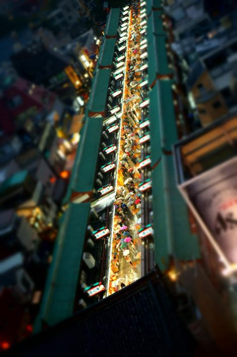 At least I didn't have to worry about offending anyone with this tilt-shifted shot of the street leading to Sensoji, Asakusa